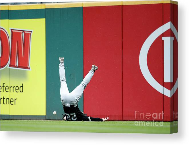 People Canvas Print featuring the photograph Francisco Lindor by Joe Robbins
