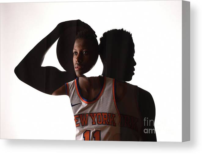 Nba Pro Basketball Canvas Print featuring the photograph Frank Ntilikina by Brian Babineau