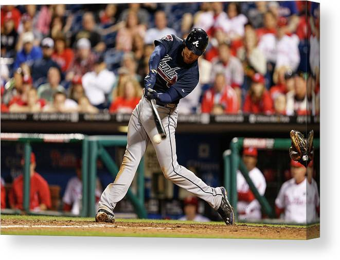 Ninth Inning Canvas Print featuring the photograph Freddie Freeman by Brian Garfinkel