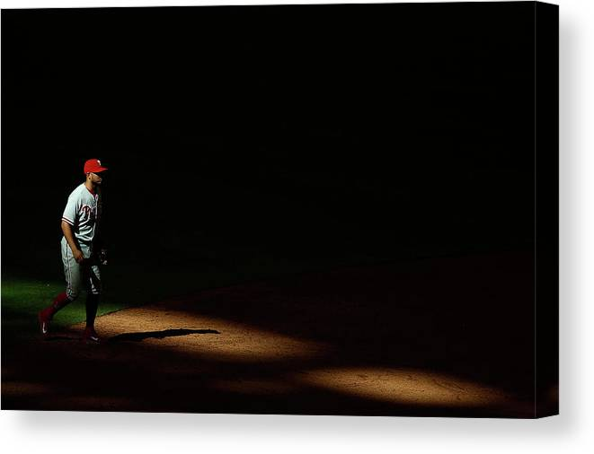 Ninth Inning Canvas Print featuring the photograph Freddy Galvis by Christian Petersen