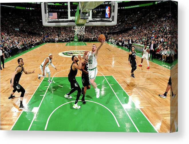 Nba Pro Basketball Canvas Print featuring the photograph Gordon Hayward by Brian Babineau