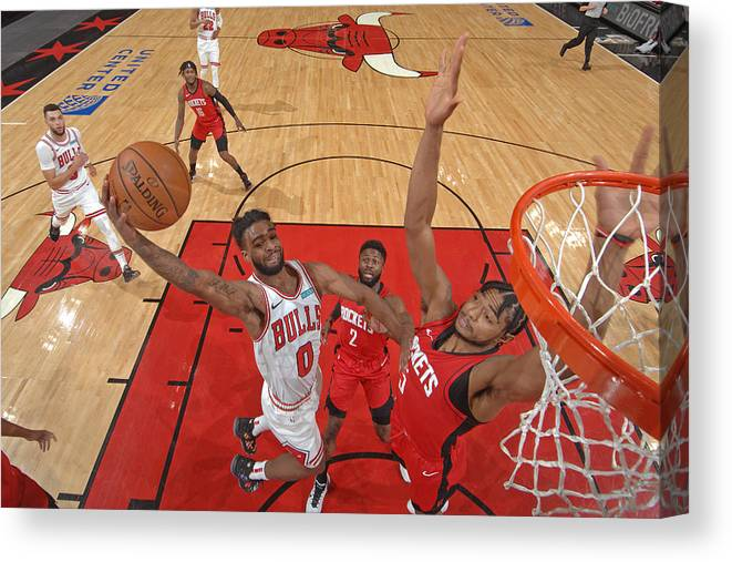Coby White Canvas Print featuring the photograph Houston Rockets v Chicago Bulls by Randy Belice