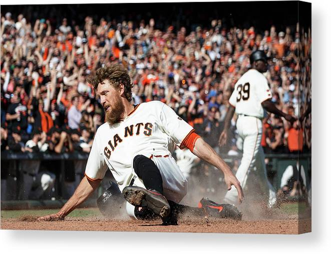 San Francisco Canvas Print featuring the photograph Hunter Pence by Jason O. Watson