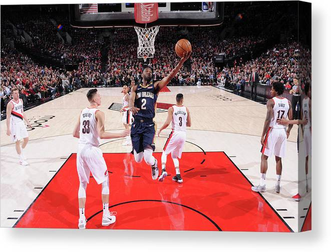 Playoffs Canvas Print featuring the photograph Ian Clark by Sam Forencich