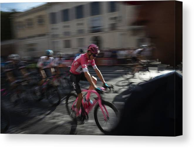 People Canvas Print featuring the photograph Italian Daily News - May by Antonio Masiello