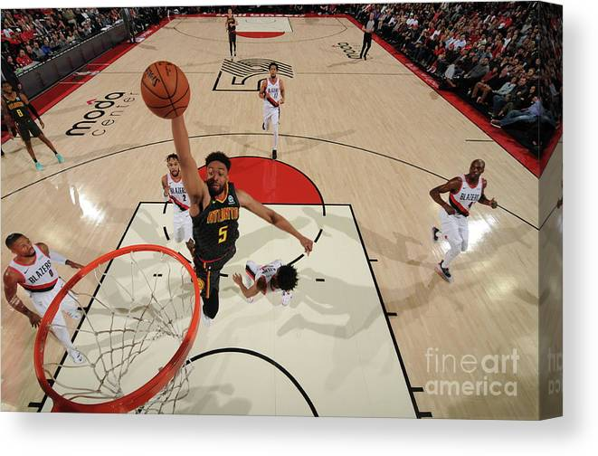 Nba Pro Basketball Canvas Print featuring the photograph Jabari Parker by Cameron Browne