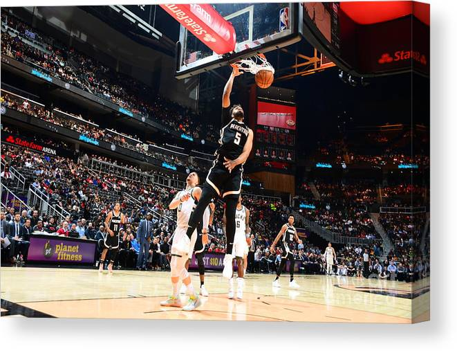 Atlanta Canvas Print featuring the photograph Jabari Parker by Scott Cunningham