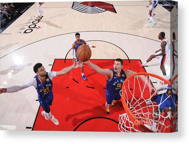 Nba Pro Basketball Canvas Print featuring the photograph Jamal Murray by Sam Forencich