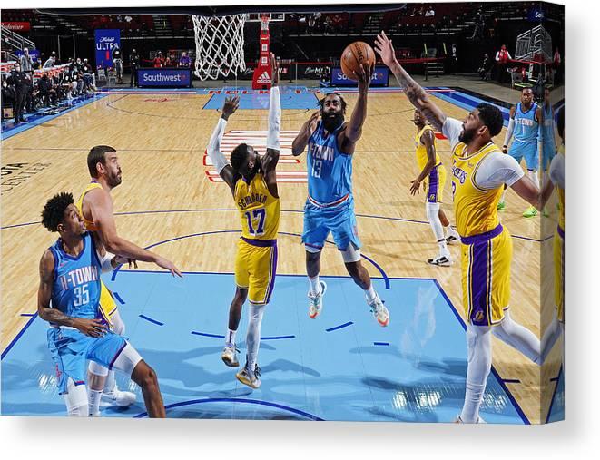 Nba Pro Basketball Canvas Print featuring the photograph James Harden by Cato Cataldo