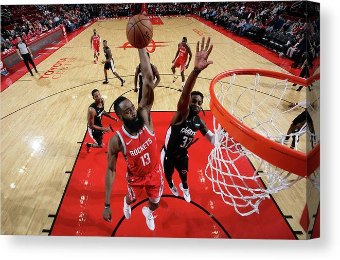 Nba Pro Basketball Canvas Print featuring the photograph James Harden by Ned Dishman