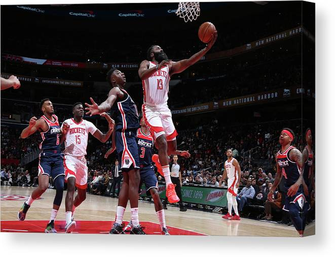 Nba Pro Basketball Canvas Print featuring the photograph James Harden by Stephen Gosling