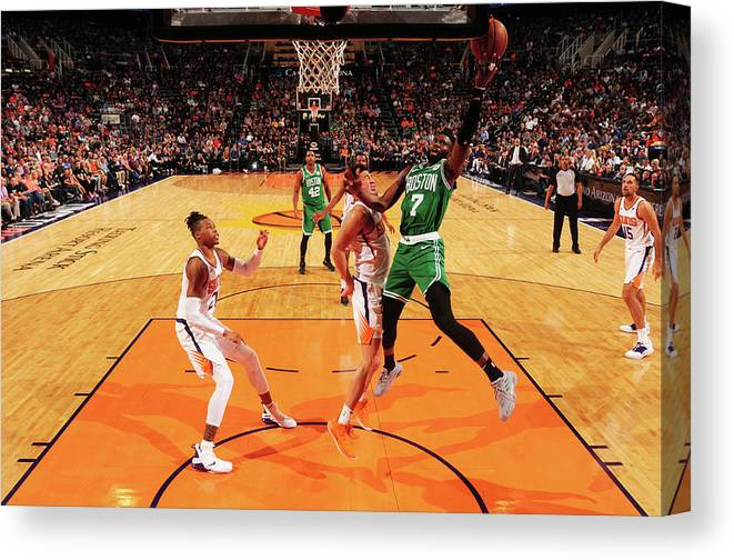 Nba Pro Basketball Canvas Print featuring the photograph Jaylen Brown by Barry Gossage