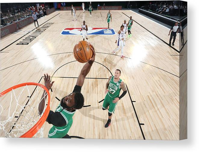 Playoffs Canvas Print featuring the photograph Jaylen Brown by David Sherman