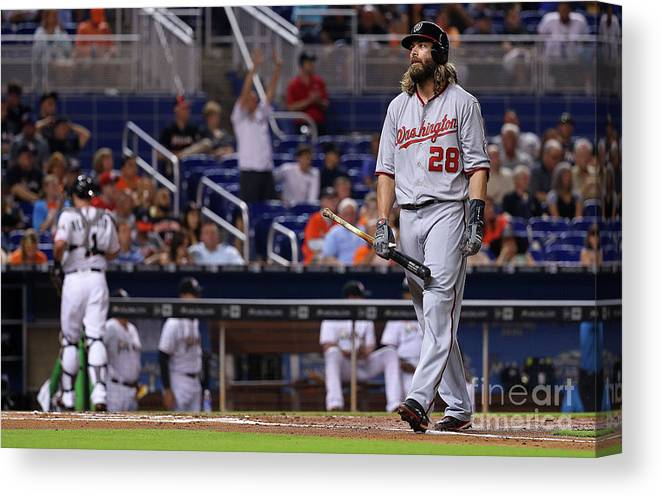 People Canvas Print featuring the photograph Jayson Werth by Mike Ehrmann