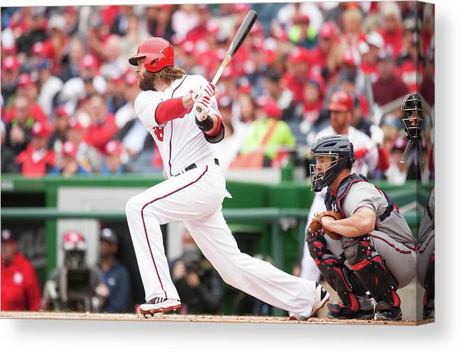 National League Baseball Canvas Print featuring the photograph Jayson Werth by Mitchell Layton