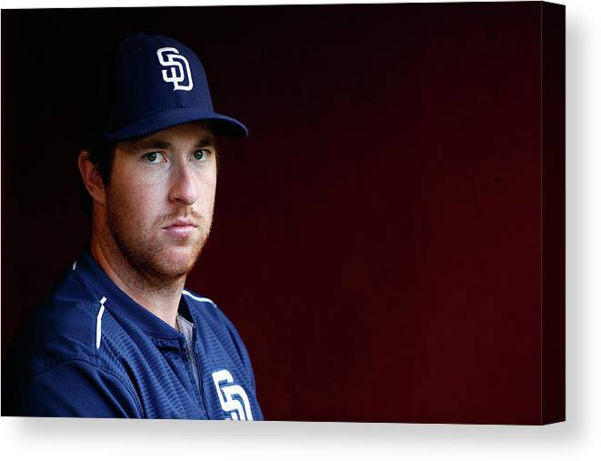 People Canvas Print featuring the photograph Jedd Gyorko by Christian Petersen