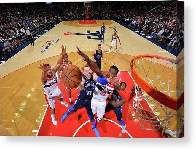 Nba Pro Basketball Canvas Print featuring the photograph Jeff Green by Jesse D. Garrabrant