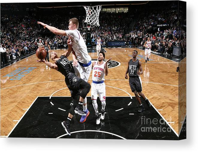 Nba Pro Basketball Canvas Print featuring the photograph Jeremy Lin by Nathaniel S. Butler