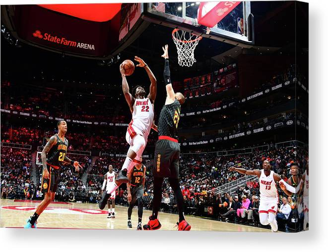 Atlanta Canvas Print featuring the photograph Jimmy Butler by Scott Cunningham