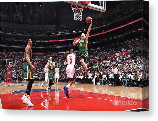Playoffs Canvas Print featuring the photograph Joe Ingles by Andrew D. Bernstein
