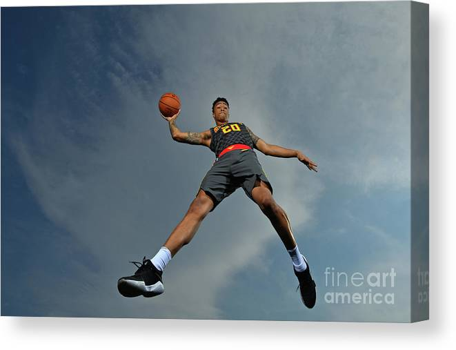 Nba Pro Basketball Canvas Print featuring the photograph John Collins by Jesse D. Garrabrant