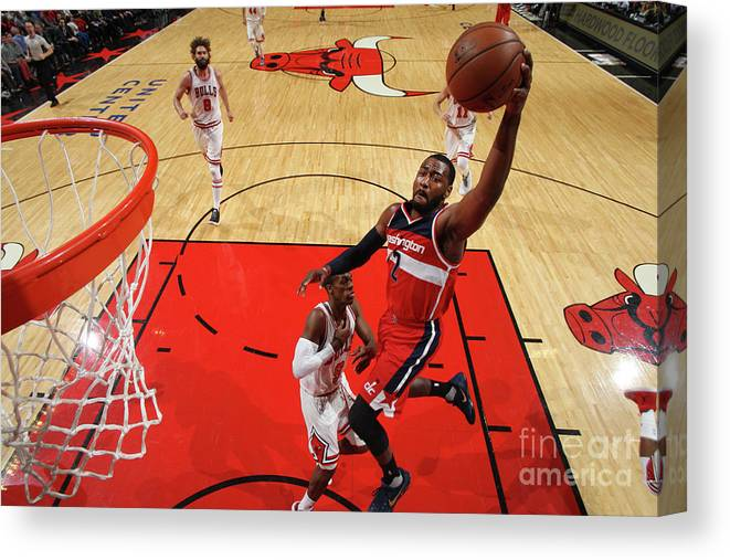 Nba Pro Basketball Canvas Print featuring the photograph John Wall by Gary Dineen