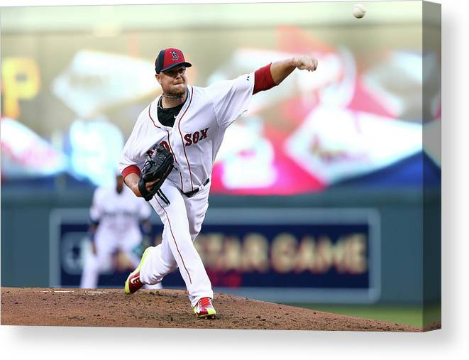 People Canvas Print featuring the photograph Jon Lester by Elsa