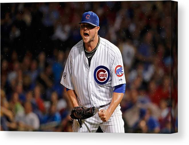 The End Canvas Print featuring the photograph Jon Lester by Jon Durr
