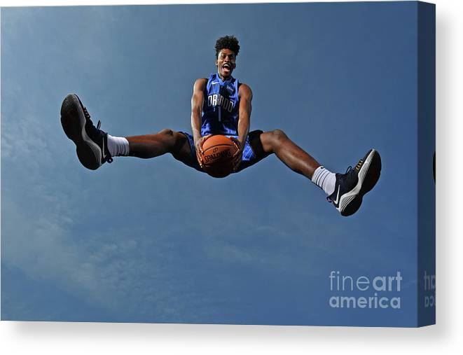 Nba Pro Basketball Canvas Print featuring the photograph Jonathan Isaac by Jesse D. Garrabrant