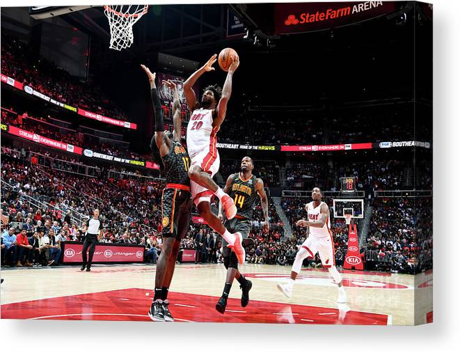 Atlanta Canvas Print featuring the photograph Justise Winslow by Scott Cunningham