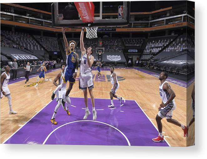 Nba Pro Basketball Canvas Print featuring the photograph Kelly Oubre and Nemanja Bjelica by Rocky Widner