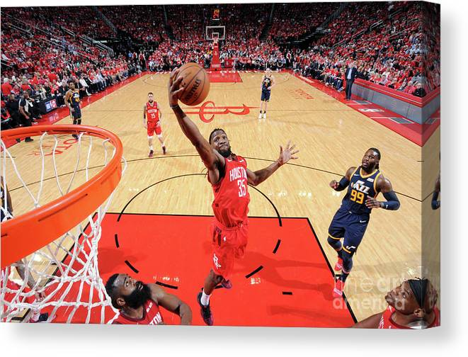 Playoffs Canvas Print featuring the photograph Kenneth Faried by Bill Baptist