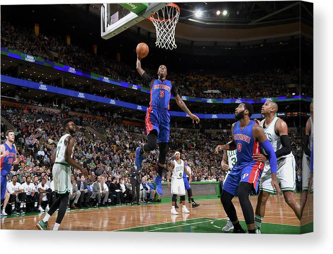 Nba Pro Basketball Canvas Print featuring the photograph Kentavious Caldwell-pope by Brian Babineau