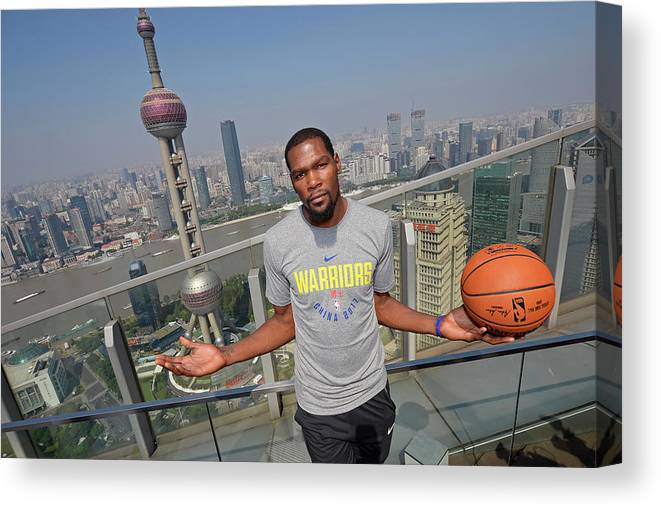 Event Canvas Print featuring the photograph Kevin Durant by David Dow