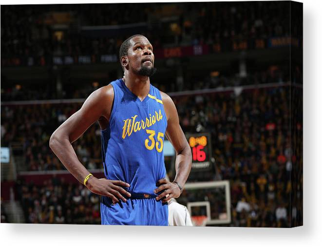 Nba Pro Basketball Canvas Print featuring the photograph Kevin Durant by David Sherman