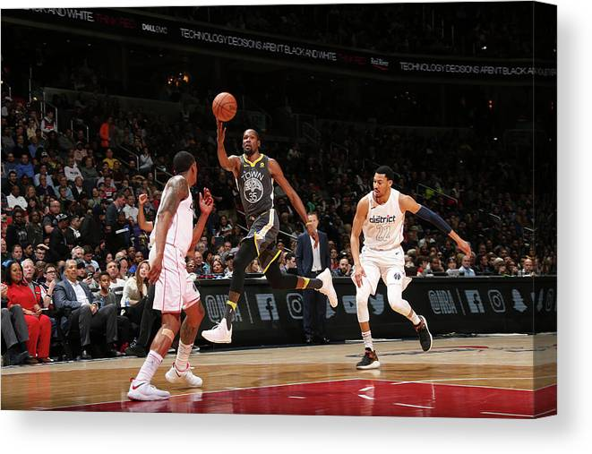 Nba Pro Basketball Canvas Print featuring the photograph Kevin Durant by Ned Dishman