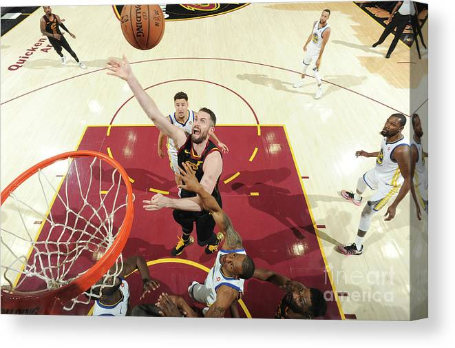 Playoffs Canvas Print featuring the photograph Kevin Love by Andrew D. Bernstein