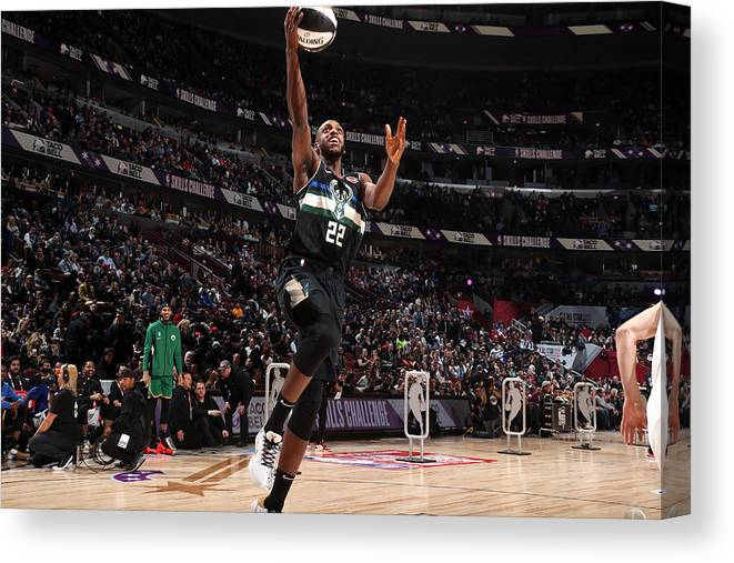 Nba Pro Basketball Canvas Print featuring the photograph Khris Middleton by Nathaniel S. Butler