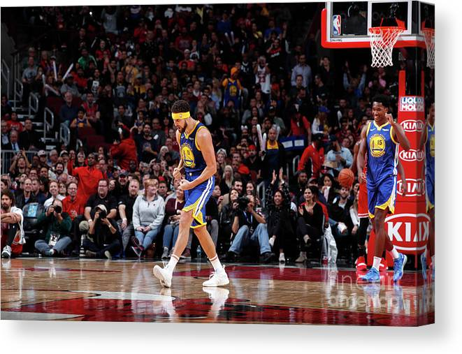 Nba Pro Basketball Canvas Print featuring the photograph Klay Thompson by Jeff Haynes