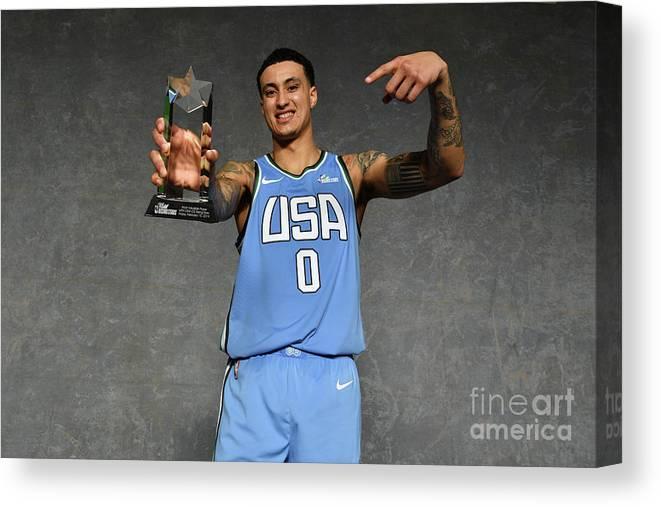 Nba Pro Basketball Canvas Print featuring the photograph Kyle Kuzma by Jesse D. Garrabrant