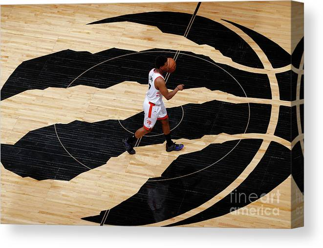 Playoffs Canvas Print featuring the photograph Kyle Lowry by Mark Blinch