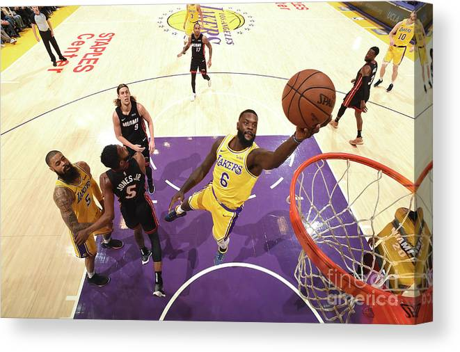 Nba Pro Basketball Canvas Print featuring the photograph Lance Stephenson by Andrew D. Bernstein