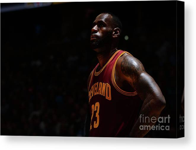 Nba Pro Basketball Canvas Print featuring the photograph Lebron James by Bart Young
