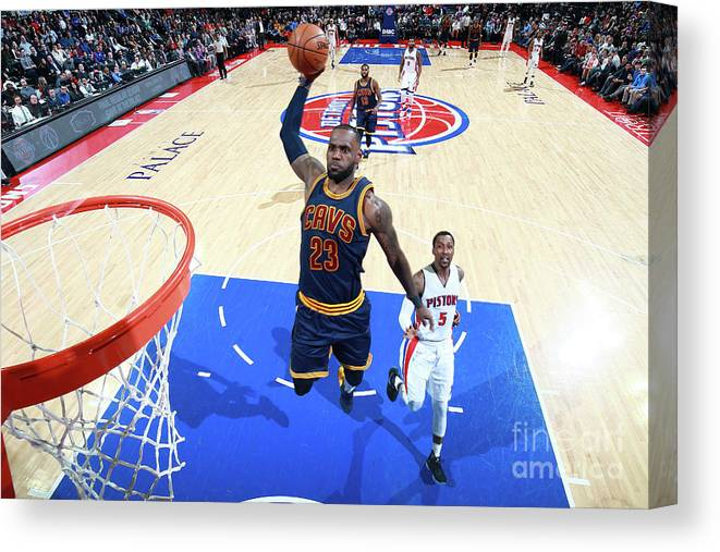 Nba Pro Basketball Canvas Print featuring the photograph Lebron James by Brian Sevald
