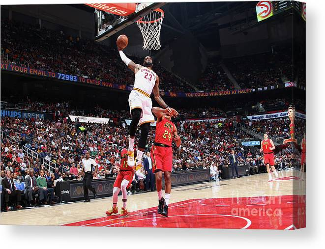 Atlanta Canvas Print featuring the photograph Lebron James by Kevin Liles