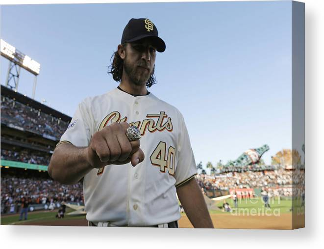 San Francisco Canvas Print featuring the photograph Madison Bumgarner by Pool
