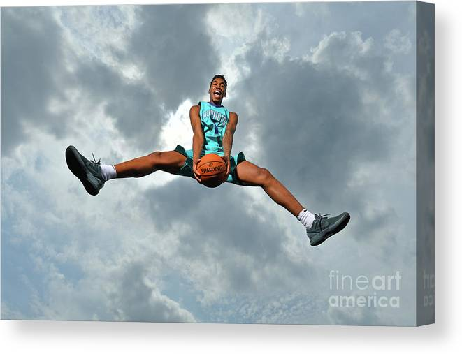 Nba Pro Basketball Canvas Print featuring the photograph Malik Monk by Jesse D. Garrabrant