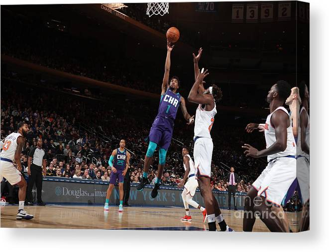 Nba Pro Basketball Canvas Print featuring the photograph Malik Monk by Nathaniel S. Butler