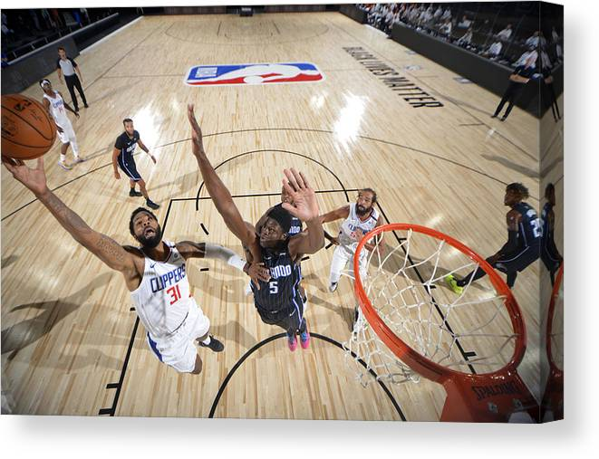 Nba Pro Basketball Canvas Print featuring the photograph Marcus Morris by Jesse D. Garrabrant