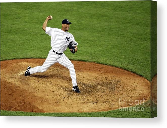 People Canvas Print featuring the photograph Mariano Rivera by Nick Laham